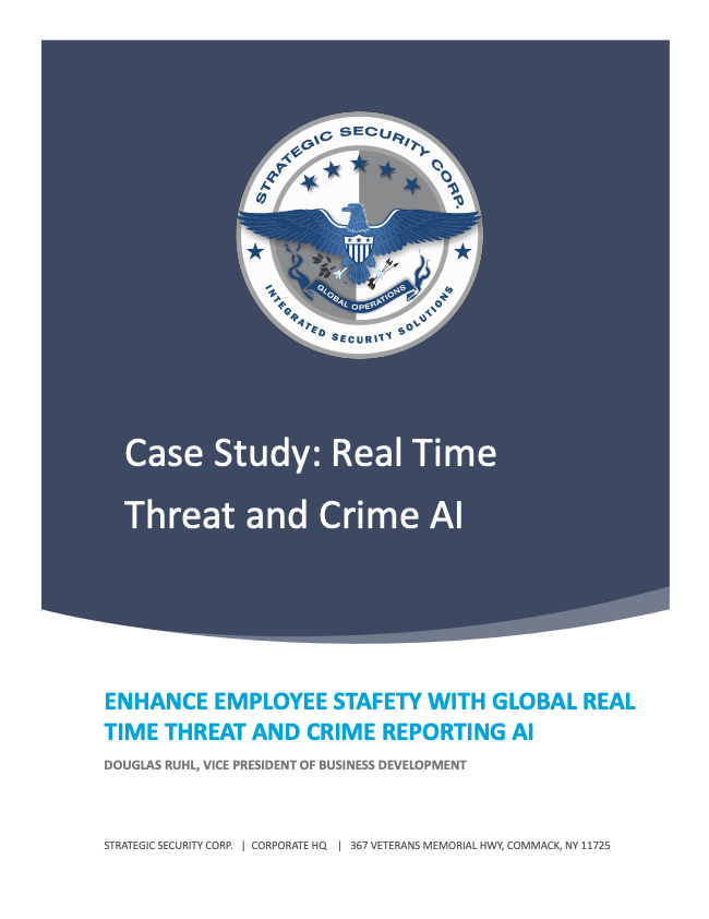 Case Study - Real Time Threat and Crime Tracking Landing Page