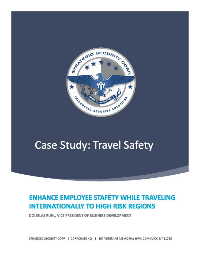Case Study - Travel Safety Cover